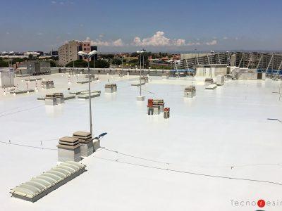 Pavimento in resina per tetto parcheggio