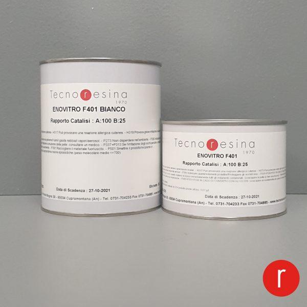 Vernice epossidica vetrificante per alimenti Enovitro F401 bianco 1250 gr