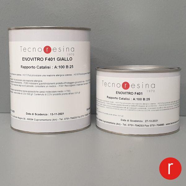 Vernice epossidica vetrificante per alimenti Enovitro F401 giallo 1250 gr