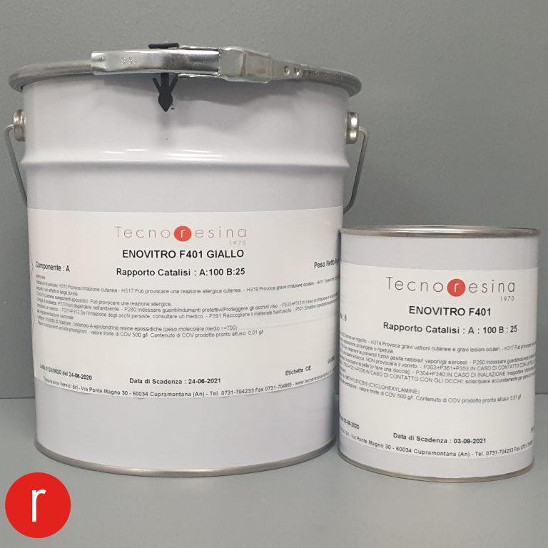 Vernice epossidica vetrificante per alimenti Enovitro F401 giallo 5Kg