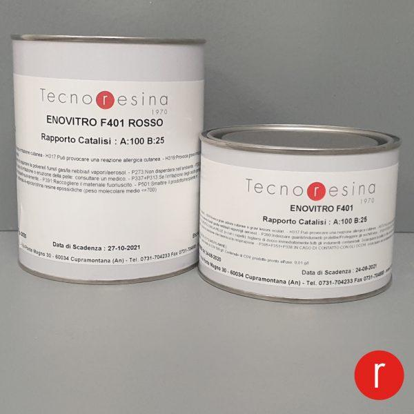 Vernice epossidica vetrificante per alimenti Enovitro F401 rosso 1250gr